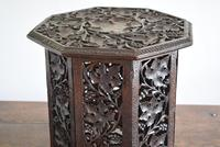 Anglo Indian Carved Table with Octagonal Top (8 of 10)