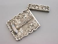 Victorian Silver Castle-top Card Case Martyrs Memorial Oxford by Frederick Marson, Birmingham, 1850 (6 of 10)
