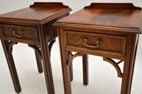 Pair of Antique Chippendale Style Mahogany Bedside Tables (9 of 12)