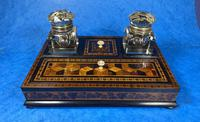 Victorian Rosewood & Tunbridge Ware Inkstand by Thomas Barton (24 of 24)