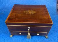 Georgian Mahogany Jewellery Box with Front Drawer (15 of 17)