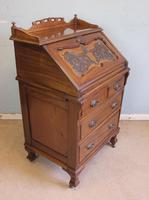 Antique Mahogany Small Bureau Writing Desk (4 of 11)
