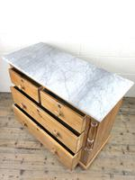 Antique Pine & Marble Chest of Drawers (10 of 15)