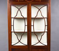 Antique English Edwardian Mahogany Display Cabinet (3 of 8)