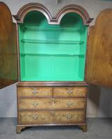 George I Style Figured Walnut Double Domed Cabinet (6 of 12)