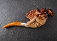 Rare antique meerschaum pipe, Leda and the Swan (11 of 14)