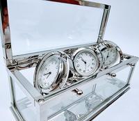 Decorative Desk or Wall Clock with Three Multi - Directional Giroscopic Clocks (3 of 8)