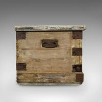 Antique Mail Chest, English, Pine, Carriage, Merchant, Victorian c.1880 (8 of 12)