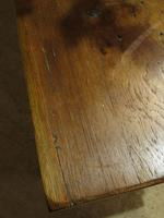 Industrial Vintage Folding Trestle Dining Table with Metal Legs & Reclaimed Top (8 of 17)