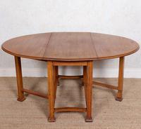 Oak Gateleg Dining Table Carved Solid Folding Kitchen Table (14 of 15)
