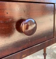 Antique Victorian Mahogany Two Drawer Side Table (16 of 20)