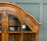 Burr Walnut Dome Topped Display Cabinet (12 of 21)