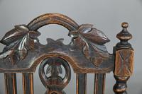 8 Victorian Jacobean Style Oak Dining Chairs (6 of 12)