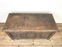 Antique 18th Century Carved Oak Coffer (2 of 10)