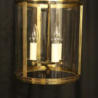 French Gilded Triple Light Antique Lantern (10 of 10)