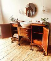 French Antique Style Washstand / Vanity / Cupboard With Basin Sink (7 of 8)