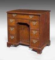 18th Century Mahogany Arched Kneehole Desk