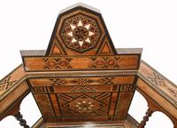 Pair of Damascan Chairs Inlay Arabic Syrian Interiors c.1920 (5 of 12)