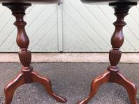 Pair of Antique Mahogany Tripod Wine Tables (4 of 8)