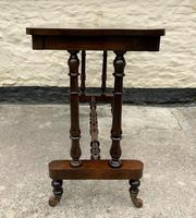 Fine 19th Century Regency Period Rosewood Veneered Occasional Writing Side Centre Table (5 of 12)