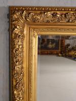 Good Late 19th Century Rectangular Giltwood Mirror (3 of 4)