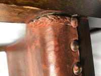 Fine Vintage Early 20th Century Original Adolf Loos Vienna Fireside Leather Armchair Secessionist Oak (38 of 46)
