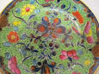 An 18th Century Polychrome Worcester Dish (2 of 3)