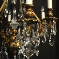 Italian Gilded Bronze & Crystal 8 Light Chandelier (6 of 10)