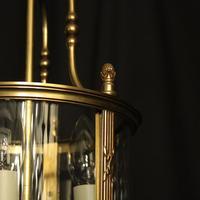 French Gilded Bronze Triple Light Convex Lantern (9 of 10)