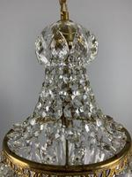 Early 20th Century Bag Chandelier, Ceiling Light, Rewired (2 of 12)