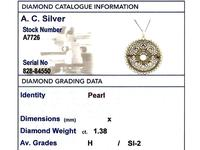 1.38 ct Diamond and Seed Pearl, Platinum Pendant / Brooch - Antique Italian Circa 1900 (9 of 12)