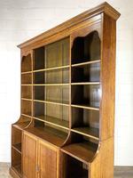 Large 19th Century Antique Oak Bookcase (10 of 11)