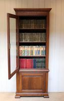 Rustic French Oak Glazed Cabinet Bookcase (5 of 13)
