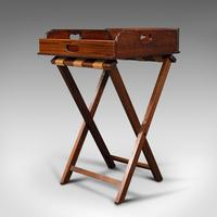 Antique Butler's Stand, English, Mahogany, Serving Tray, Rest, Victorian c.1900 (3 of 12)