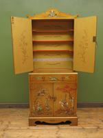 Antique Art Deco Chinese Painted Cabinet, Ornate Gold Decoration, Signed (13 of 28)