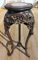 Tall 19th Century Chinese Marble Top Stand