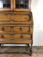 Early 20th Century Antique Oak Bureau Bookcase (4 of 17)