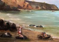 Original Antique 19th Century British Coastal Seascape Oil on Board Painting (5 of 10)