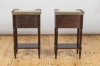 Pair of French Three Drawer Mahogany Bedside Cabinets (4 of 10)