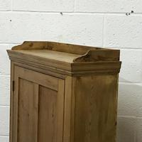 Tall Slim Shallow Old Pine School Cupboard (5 of 5)