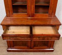 Library Glazed Bookcase Mahogany 19th Century Victorian Display Cabinet (8 of 11)