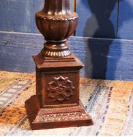 Pair of Tall Cast Iron Pricket Candlesticks (5 of 9)