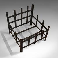 Antique Fire Basket, Wrought Iron, Firewood, Log Burner, Grate, Victorian, 1900 (7 of 8)