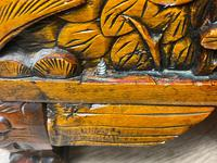 Chinese Camphor Wood Carved Birds & Flowers Chest Coffee Table (33 of 34)