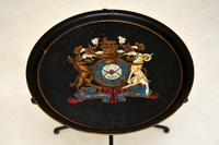 Antique French Enamelled Tole Folding Side Table (5 of 8)