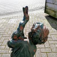 Antique Cast Iron Fountain in the Form of a Boy with Goose (4 of 12)