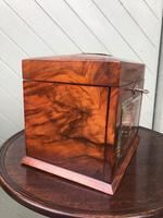 Antique Burr Walnut Ladies Jewellery Box (4 of 9)