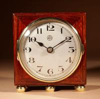 Early Electrical Ato Art Deco Small Desk / Mantel Clock (6 of 8)