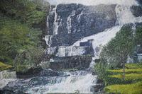 Large Waterfall Oil Painting (5 of 20)