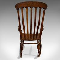Antique Farmhouse Rocking Chair, English, Elm, Beech, Seat, Victorian c.1900 (5 of 12)